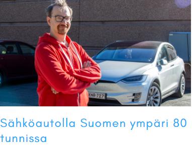 Sähköautolla Suomen ympäri 80 tunnissa